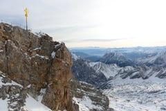 Mattina a Zugspitze Fotografia Stock Libera da Diritti