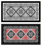 Mattnationaliteter svartvita Ulchi och färg Arkivbild