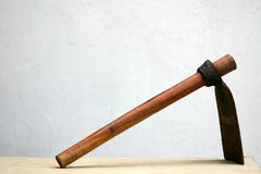 Mattock. Lonely mattock Stock Photos