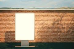 Mattone in bianco del tabellone per le affissioni Immagine Stock