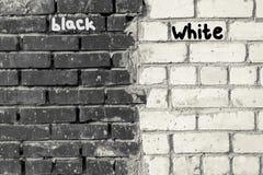 Mattone in bianco e nero di struttura Immagini Stock Libere da Diritti