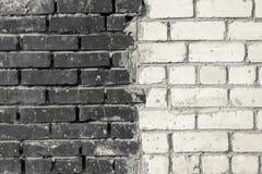Mattone in bianco e nero di struttura Fotografia Stock