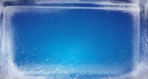 Mattone blu del ghiaccio Fotografie Stock