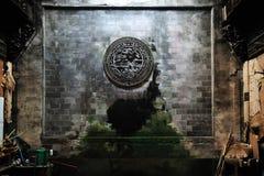 Mattone che intaglia sulla parete, Wuyuan Fotografia Stock Libera da Diritti