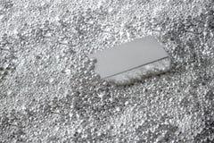 Mattone d'argento nei pezzi di argento fotografie stock libere da diritti