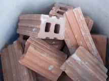 Mattone dell'argilla per la parete ed il recinto di configurazione Immagini Stock