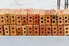 Mattone dell'argilla rossa Fotografie Stock Libere da Diritti