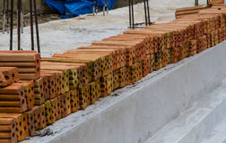 Mattone dell'argilla rossa Immagini Stock Libere da Diritti