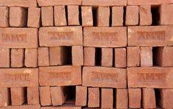 Mattone dell'argilla rossa Immagine Stock