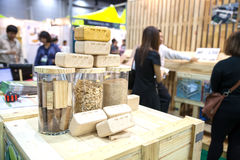 Mattone di legno Immagini Stock Libere da Diritti
