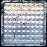 Mattone di vetro rotto Immagine Stock Libera da Diritti