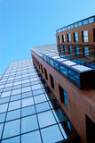 Mattone ed azzurro Fotografie Stock Libere da Diritti