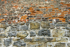 Mattone-parete strutturata Fotografie Stock