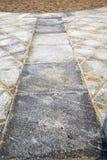 mattone in pavimentazione di sempione del casorate di un marmo della chiesa n Fotografie Stock Libere da Diritti