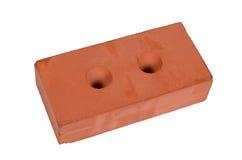 Mattone rosso della costruzione isolato su bianco Fotografie Stock