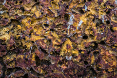 Mattone, sulla parete marrone, Fotografie Stock