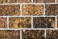 Mattone, sulla parete marrone, Immagine Stock Libera da Diritti