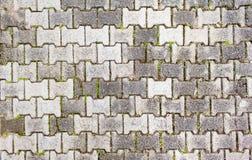 Mattone a terra in una scanalatura di modo Fotografie Stock Libere da Diritti