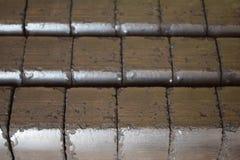 Mattonella di carbone, blocchetto della mattonella di carbone, blocchetti della mattonella di carbone, mucchio delle mattonelle d Fotografie Stock