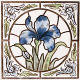 Mattonelle antiche di Nouveau di arte immagini stock libere da diritti