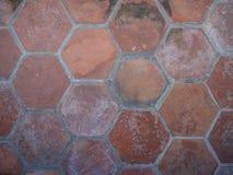 Mattonelle antiche di terracotta Immagine Stock