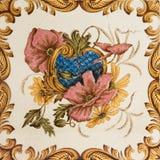Mattonelle antiche floreali estetiche Fotografia Stock