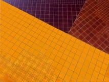 Mattonelle arancio, marroni, viola brillanti Fotografie Stock Libere da Diritti