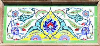 Mattonelle artistiche turche della parete Fotografie Stock Libere da Diritti