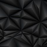 Mattonelle astratte nere del fondo del poligono Fotografie Stock