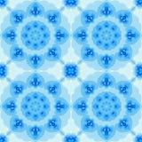 Mattonelle basate frattale senza cuciture con una progettazione della mandala o del fiore Fotografia Stock