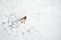 Mattonelle bianche incrinate Fotografie Stock