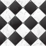 Mattonelle in bianco e nero Fotografia Stock Libera da Diritti