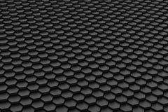 Mattonelle in bianco e nero di esagono Immagini Stock