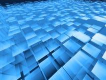 Mattonelle blu Fotografia Stock Libera da Diritti
