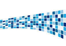 Mattonelle blu astratte Immagine Stock