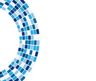 Mattonelle blu astratte in arco Immagini Stock