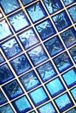 Mattonelle blu della stanza da bagno Fotografia Stock