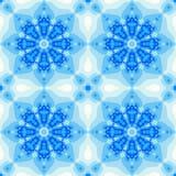 Mattonelle blu di inverno con una progettazione della mandala o del fiore Immagini Stock