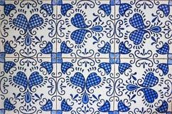 Mattonelle blu e bianche Fotografia Stock