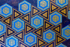 Mattonelle blu Handmade Fotografia Stock
