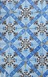 Mattonelle blu a Lisbona immagine stock libera da diritti
