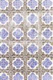 Mattonelle blu rosse Fotografie Stock