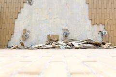 Mattonelle cadute Fotografie Stock Libere da Diritti