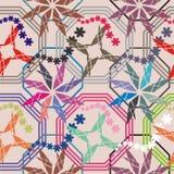 Mattonelle con la decorazione geometrica Immagine Stock