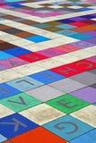 Mattonelle con le lettere Fotografia Stock Libera da Diritti