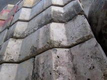 Mattonelle concrete del mattone Fotografia Stock Libera da Diritti