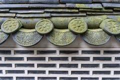 Mattonelle coreane tradizionali del hanok Fotografia Stock Libera da Diritti
