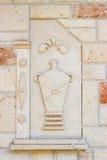 Mattonelle decorative della pietra di aria aperta Fotografia Stock