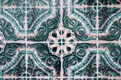 Mattonelle decorative portoghesi decorate tradizionali fotografia stock libera da diritti