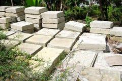 Mattonelle dei blocchi in calcestruzzo Immagine Stock